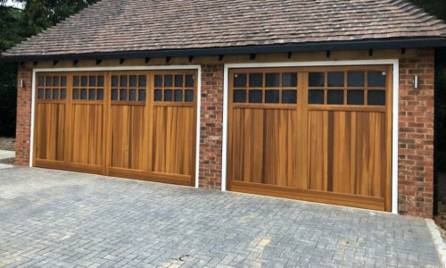Wood Up & Over Garage Door Photo