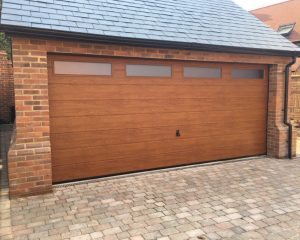 Wooden Garage Door Photo
