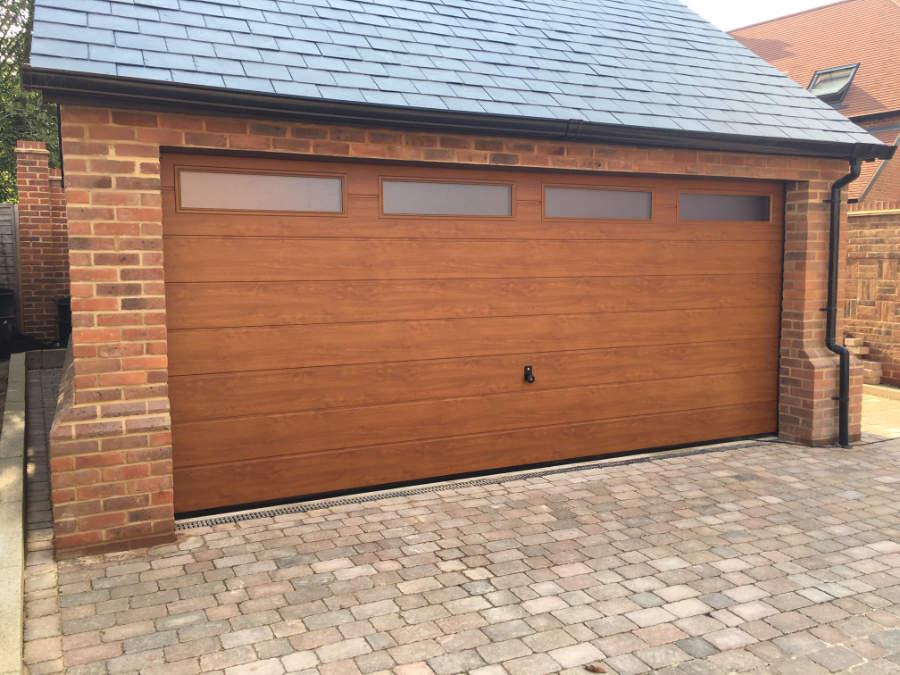 Wooden Garage Door Photo