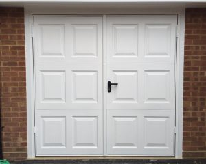 White Garage Door Photo